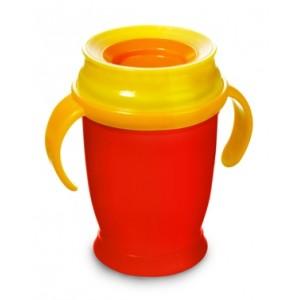 1/620 Hrníček LOVI 360 MINI 210ml s úchyty bez BPA červený