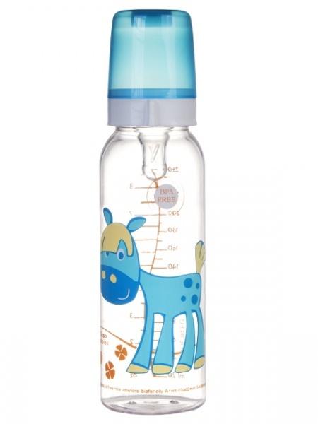 Canpol Babies 11/841 Láhev s potiskem Happy Animals 250 ml bez BPA pejsek