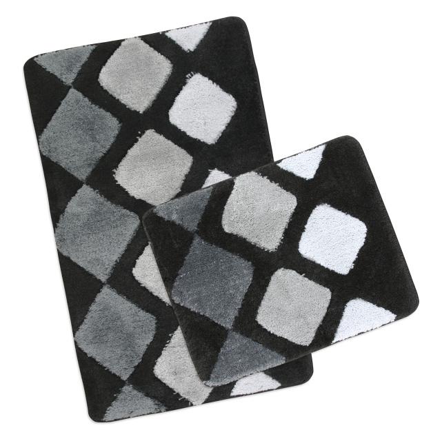 Brotex Koupelnová SADA ULTRA 60x100+60x50 cm Dlaždice šedá