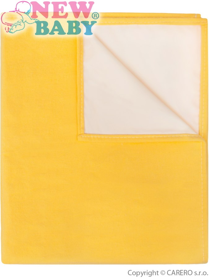 Flanelová podložka New Baby žlutá