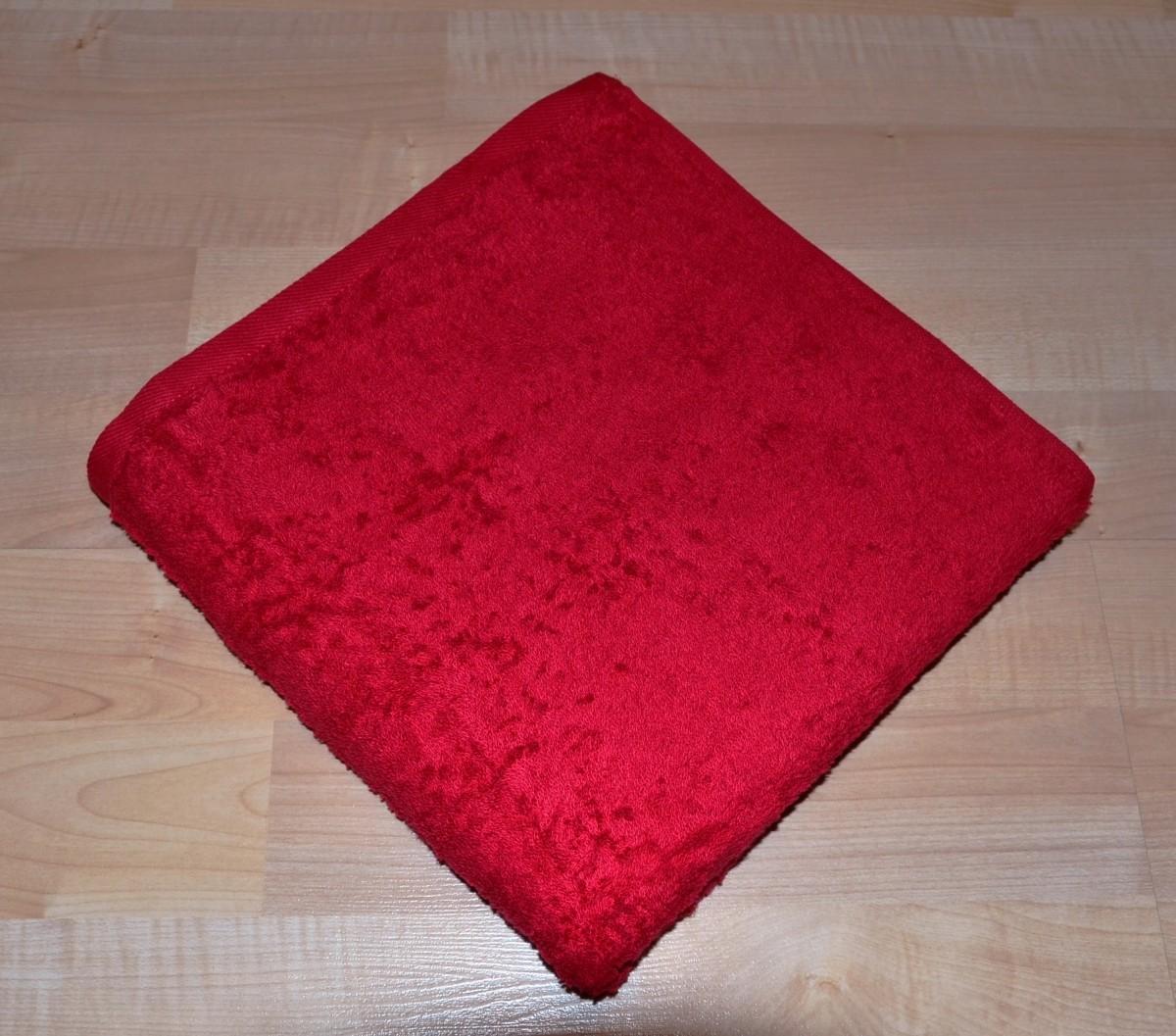 Brotex Froté ručník 50x100cm bez proužku 450g červený