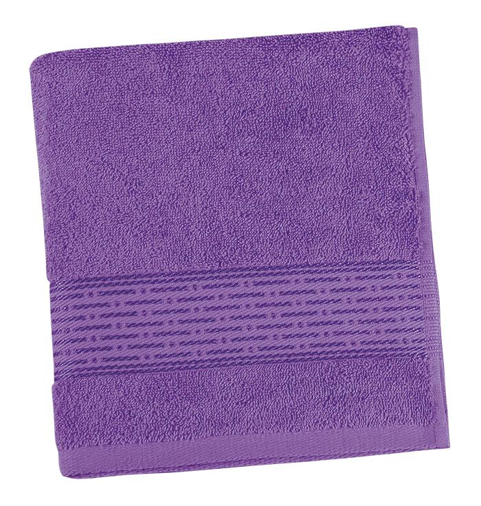 Brotex Froté ručník 50x100cm proužek 450g fialová