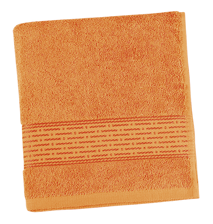 Brotex Froté ručník 50x100cm proužek 450g oranžová