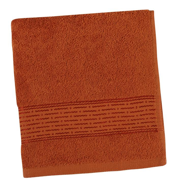 Brotex Froté ručník 50x100cm proužek 450g terra