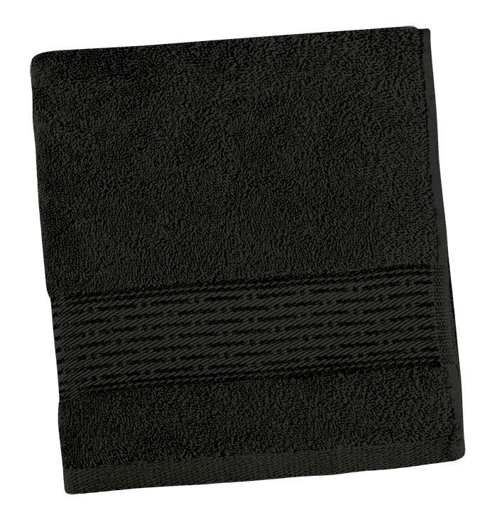 Brotex Froté ručník 50x100cm proužek 450g černá