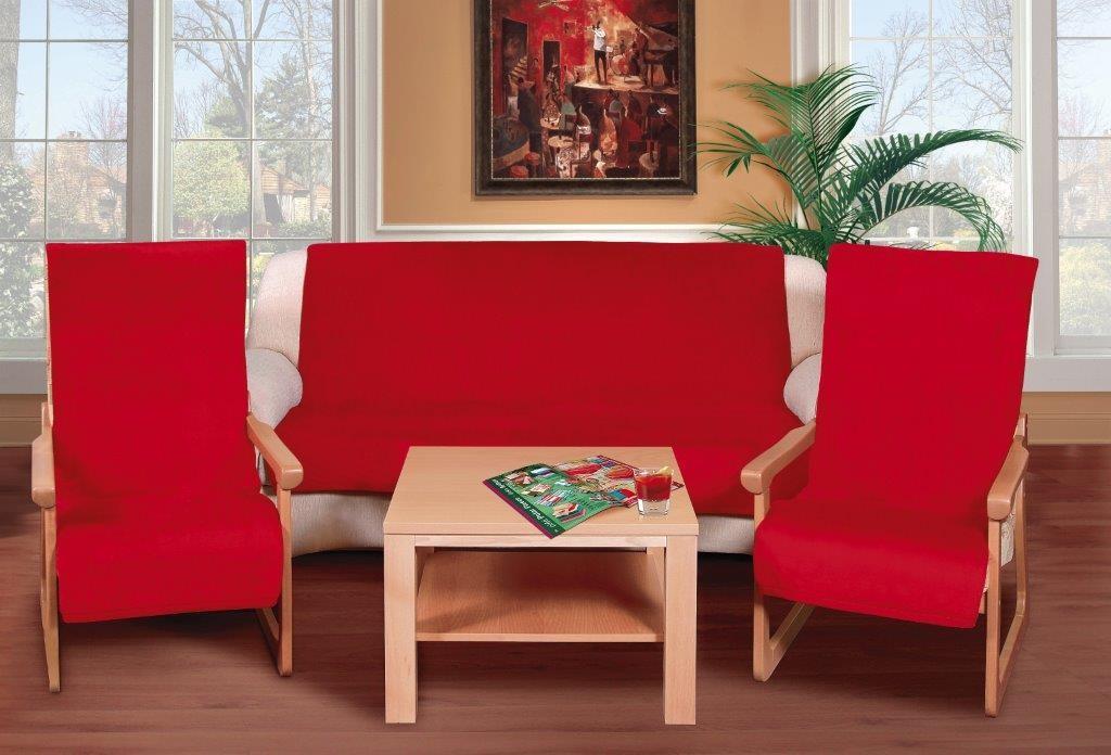 Brotex Přehoz na sedací soupravu Micro 3+1+1 červená