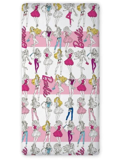 Faro Bavlněné prostěradlo Barbie 90x200 cm