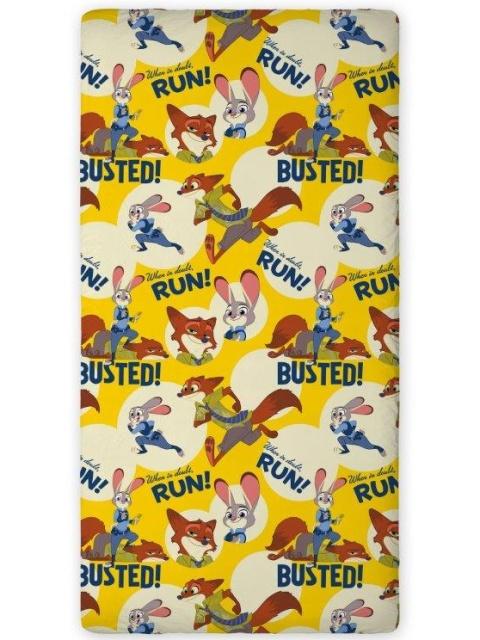Faro Bavlněné prostěradlo Zootropolis 003 90x200 cm