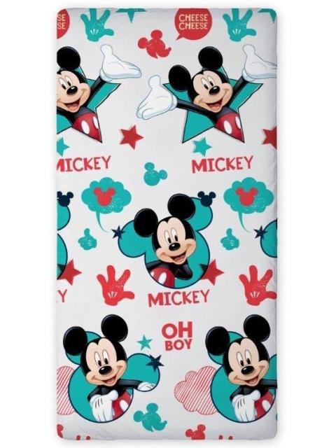 Faro Dětské bavlněné prostěradlo Mickey Mouse 04 90x200 cm