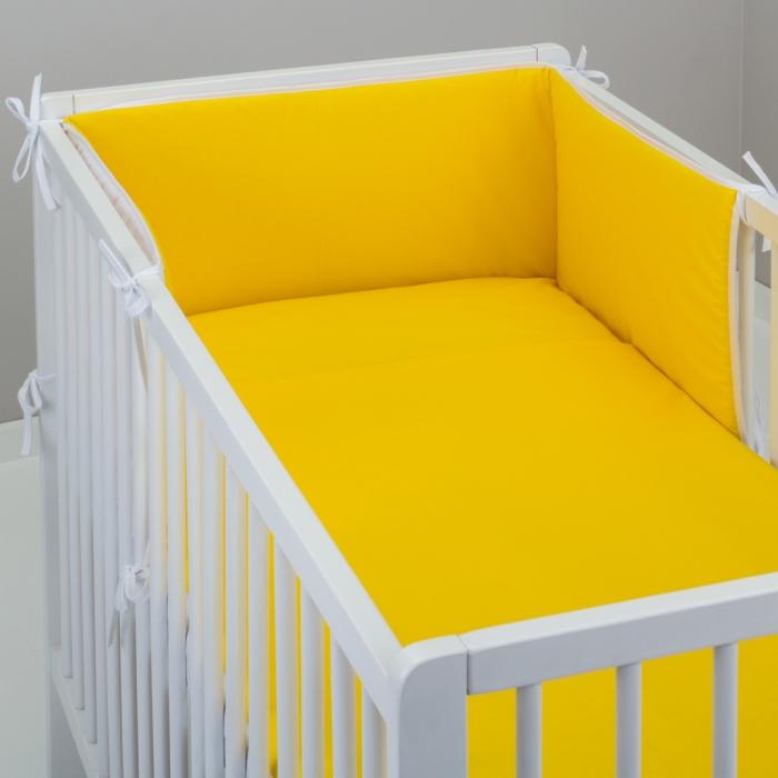3.dílné povlečení do postýlky Baby-Tex 100x135 cm žluté