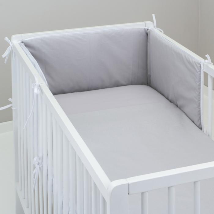 3.dílné povlečení do postýlky Baby-Tex 100x135 cm sv. šedé