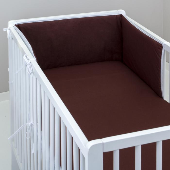 3.dílné povlečení do postýlky Baby-Tex 90x120 cm čokoládové