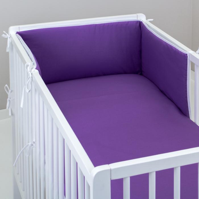 3.dílné povlečení do postýlky Baby-Tex 90x120 cm fialové