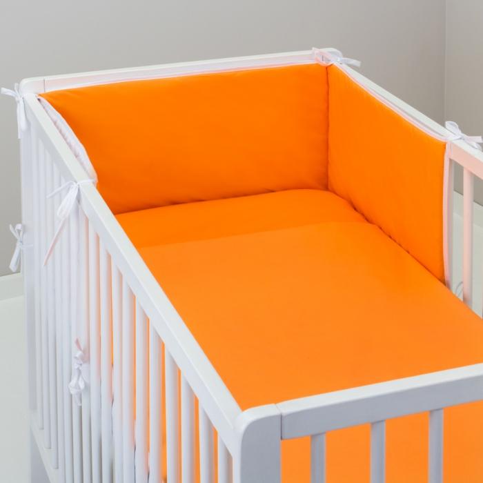 3.dílné povlečení do postýlky Baby-Tex 90x120 cm oranžové
