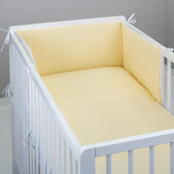 3.dílné povlečení do postýlky Baby-Tex 100x135 cm krémové