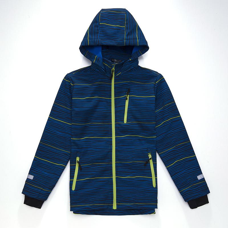 Dětská chlapecká softshellová bunda Wolf B2666 Tm. modrá, vel. 122/128