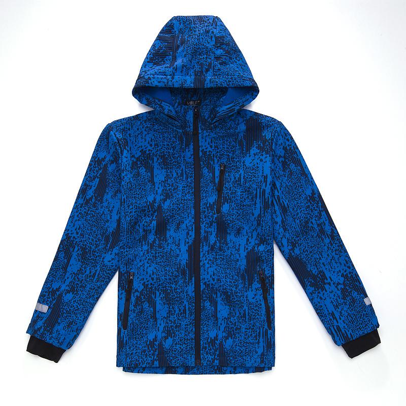 Dětská chlapecká softshellová bunda Wolf B2666 Sv. modrá, vel. 134/140