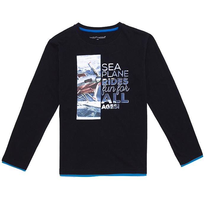 Dětské chlapecké triko dlouhý rukáv Wolf S2632 Černé, vel. 146