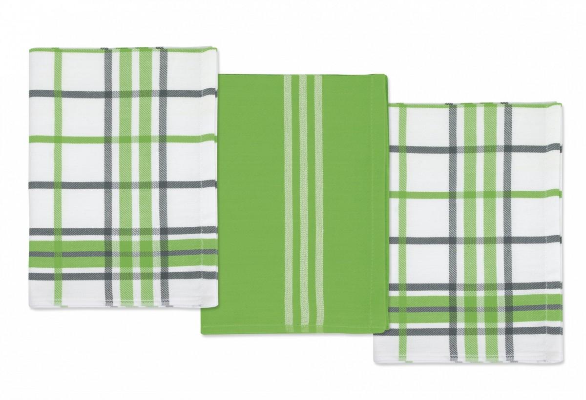 Brotex Kuchyňská utěrka 50x70cm zelené pruhy, kostka