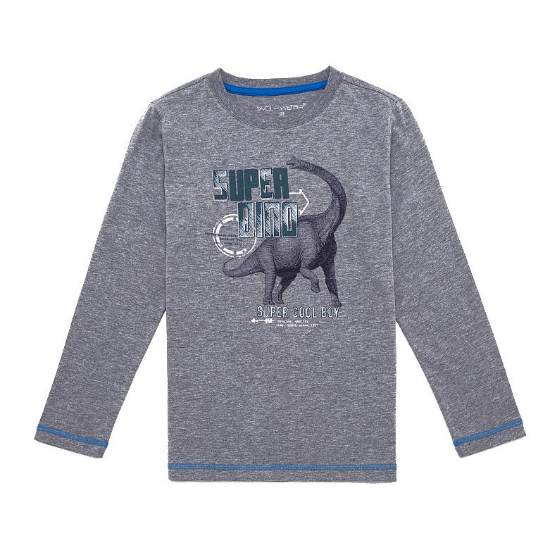 Dětské chlapecké triko dlouhý rukáv Wolf S2631 Šedé, vel. 104