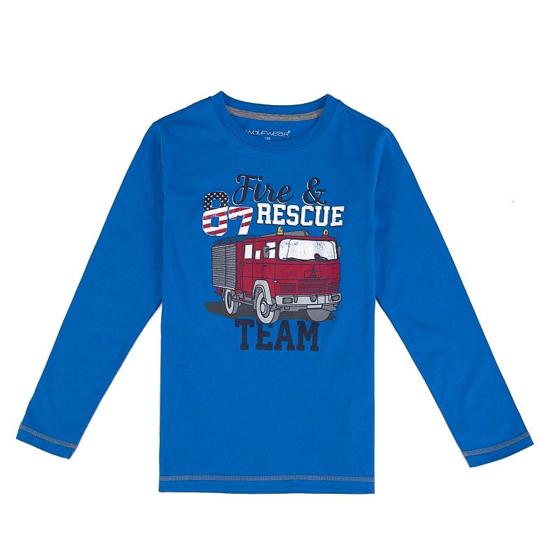 Dětské chlapecké triko dlouhý rukáv Wolf S2631 Modré, vel. 104