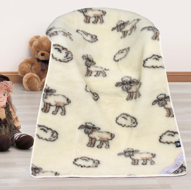 Bellatex Dětská vlněná deka Evropské merino ovečka 100x150 cm