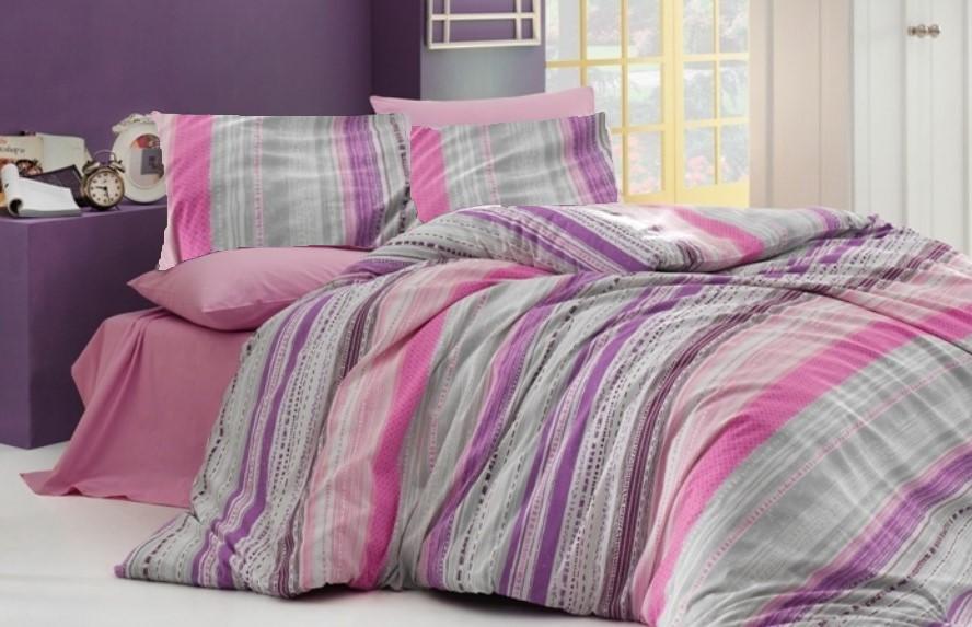 Brotex Přehoz přes postel dvoulůžkový Striped pink 240x220 cm