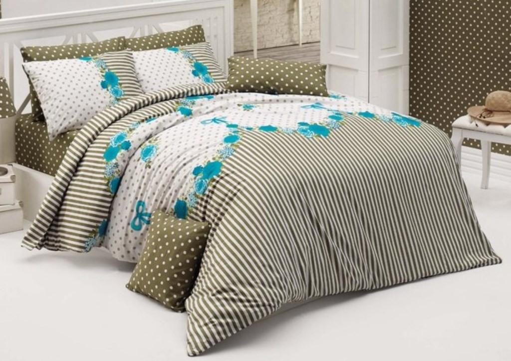 Brotex Přehoz přes postel dvoulůžkový Tanya modrá 240x220 cm