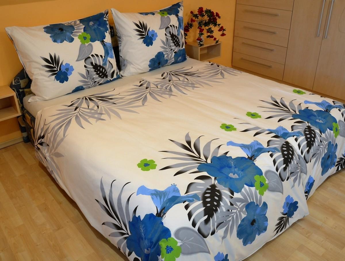 Brotex Přehoz přes postel dvoulůžkový Lilie modrá 240x220 cm