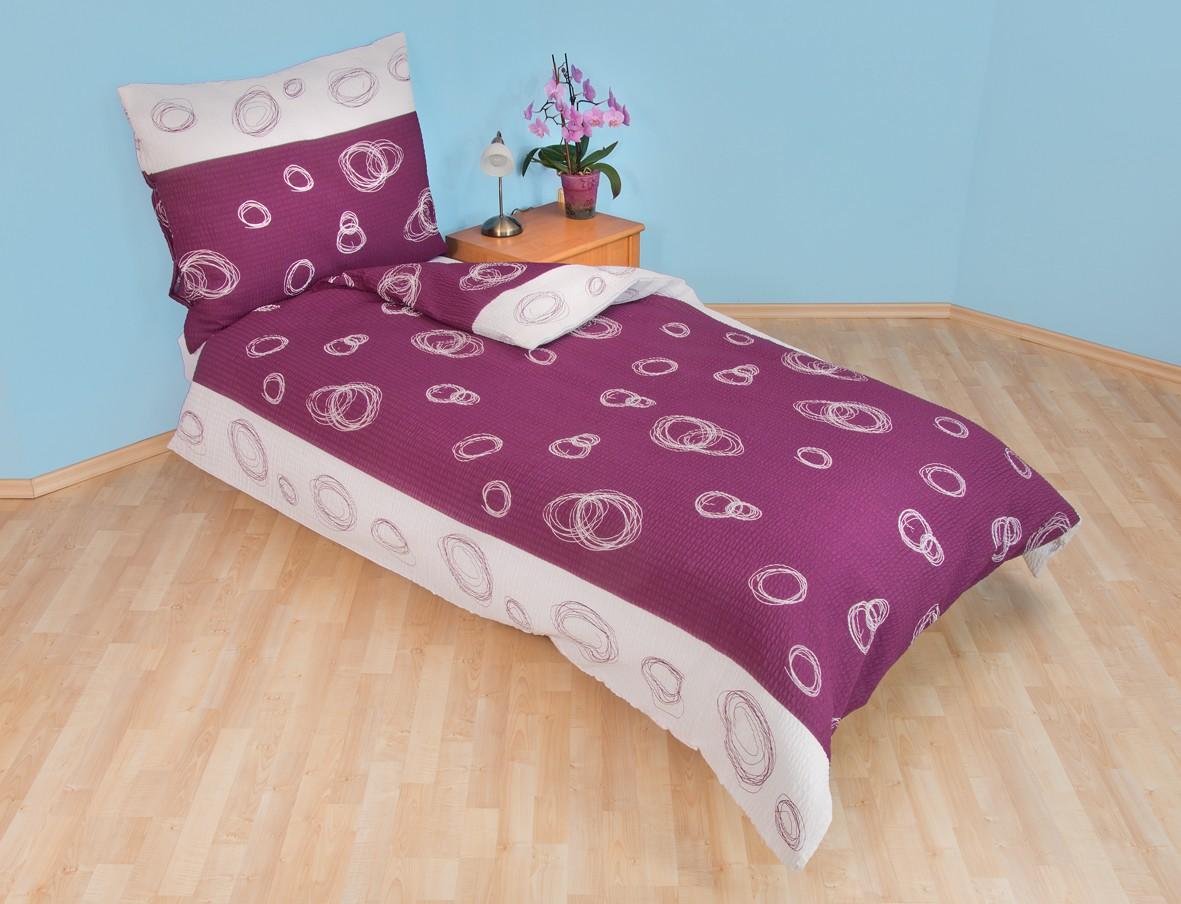 Brotex Přehoz přes postel dvoulůžkový Espiral fialový 240x220 cm