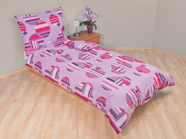 Brotex Přehoz přes postel dvoulůžkový Šachovnice lila 240x220 cm