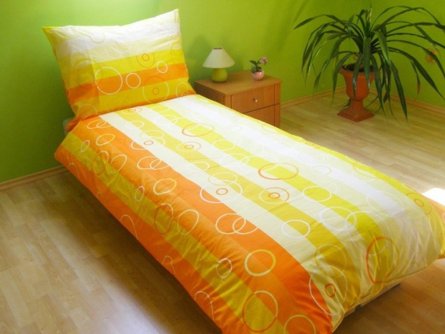 Brotex Přehoz přes postel dvoulůžkový Bublina oranžová 240x200 cm