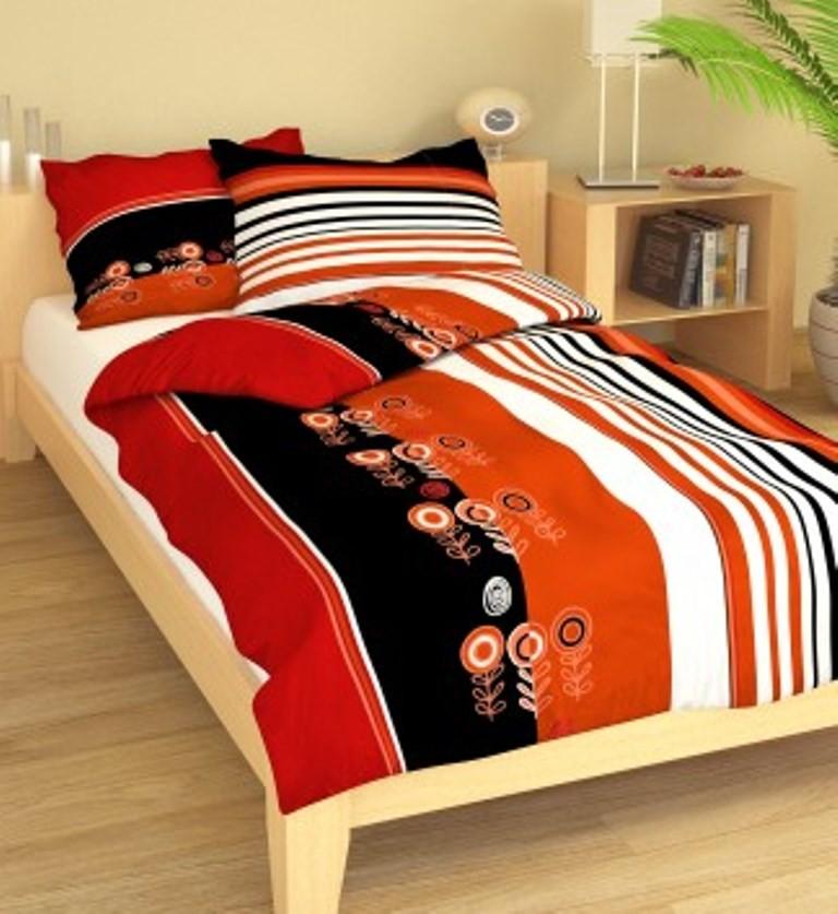 Brotex Přehoz přes postel dvoulůžkový Terče červenočerné 240x220 cm
