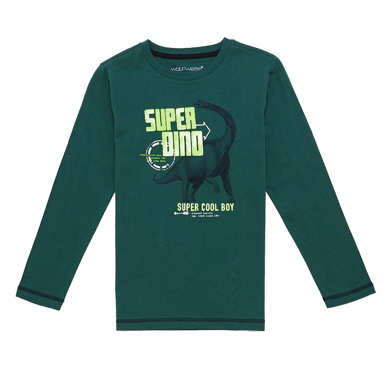 Dětské chlapecké triko dlouhý rukáv Wolf S2631 Zelené, vel. 104