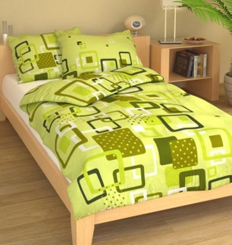 Brotex Přehoz přes postel dvoulůžkový Hlavolam zelený 240x220 cm
