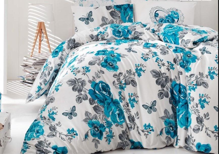 Brotex Přehoz přes postel dvoulůžkový Neva modrá 240x220 cm