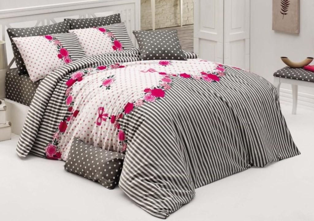Brotex Přehoz přes postel dvoulůžkový Tanya růžová 240x220 cm