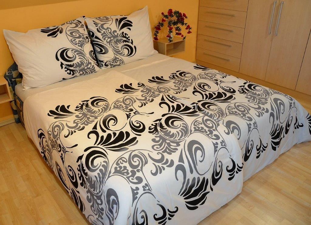 Brotex Přehoz přes postel dvoulůžkový Ella černošedá 240x220 cm