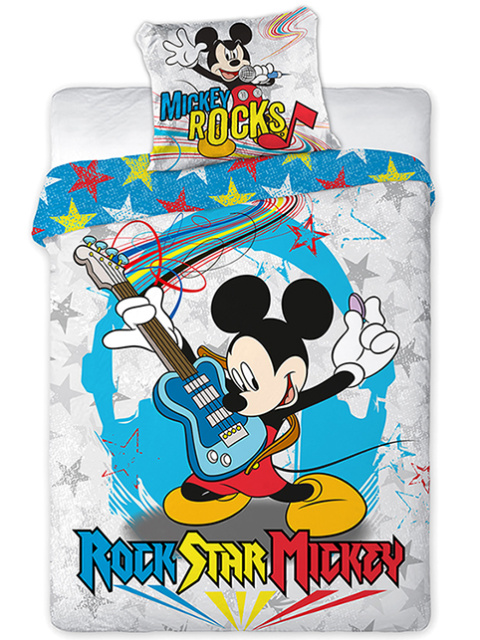 Faro Dětské povlečení Myšák Mickey 05 160x200 + 70x80 cm