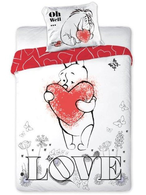 Faro Povlečení Medvídek Pů Love bavlna 160x200 + 70x80 cm