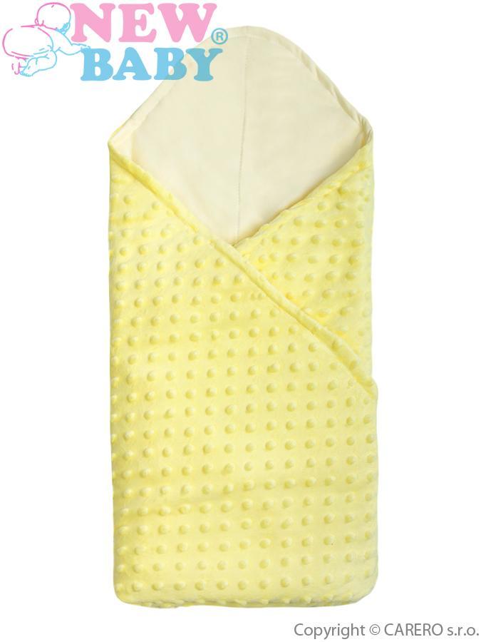 Multifunkční dětská deka 2v1 New Baby žlutá