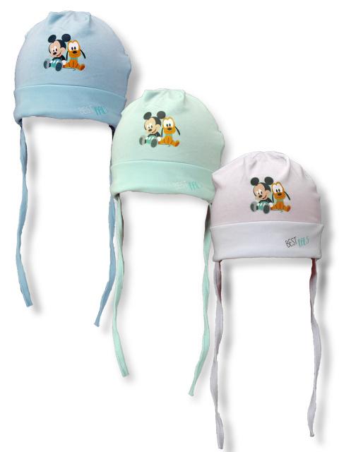 Setino Kojenecká čepice 770-614 Mickey a Pluto Bílá, vel. 48