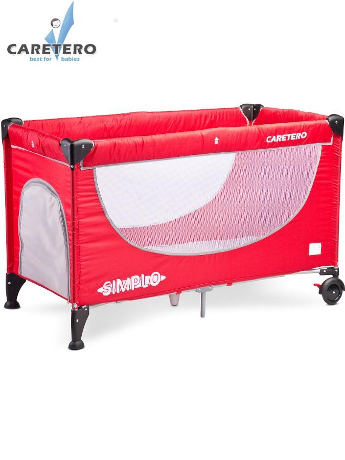 Cestovní postýlka Caretero Simplo 2016 red