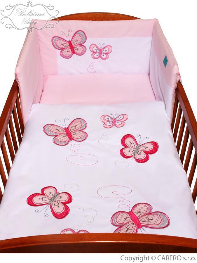 5-dílné ložní povlečení Belisima Motýlek 100x135 růžové