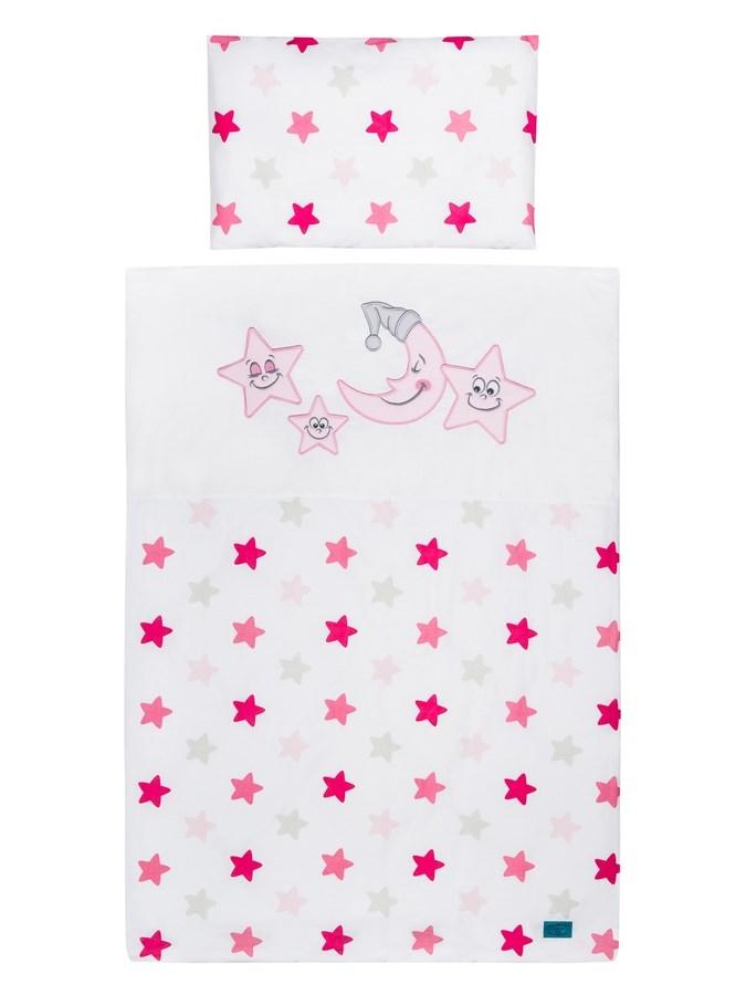 2-dílné ložní povlečení Belisima Veselé Hvězdičky 100x135 růžové