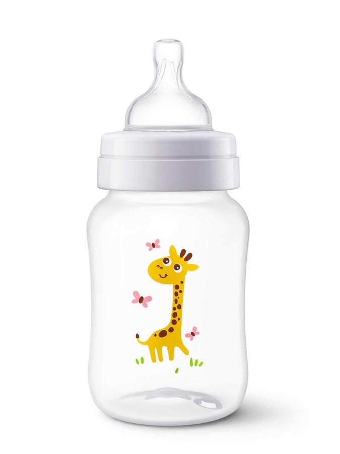 Kojenecká láhev Avent Classic 260 ml bílá s žirafou