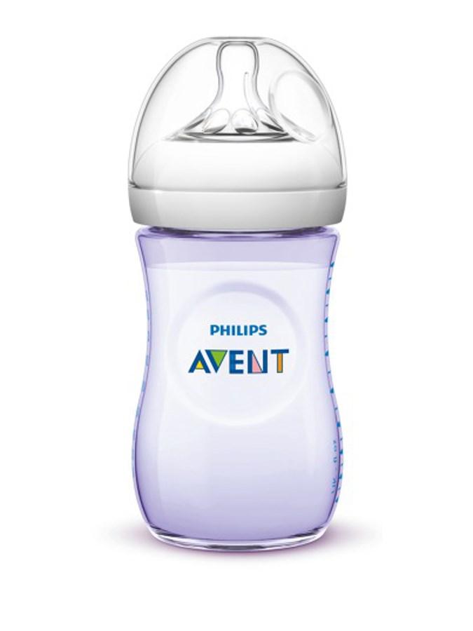 Kojenecká láhev Avent Natural 260 ml fialová