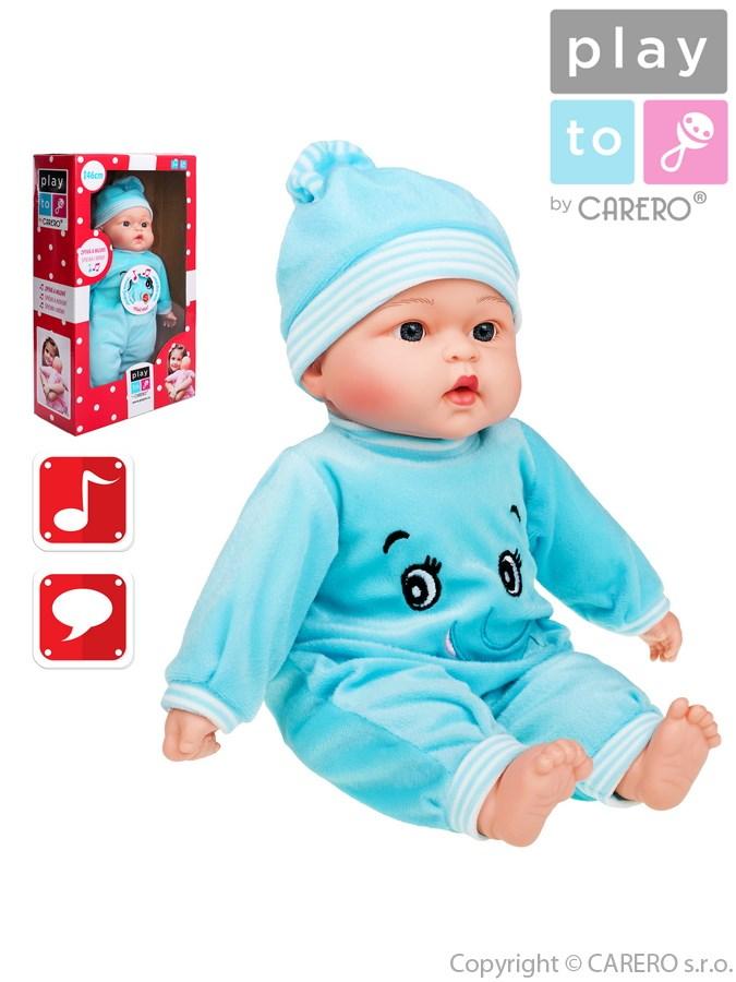 Mluvící a zpívající dětská panenka PlayTo Maruška 46 cm