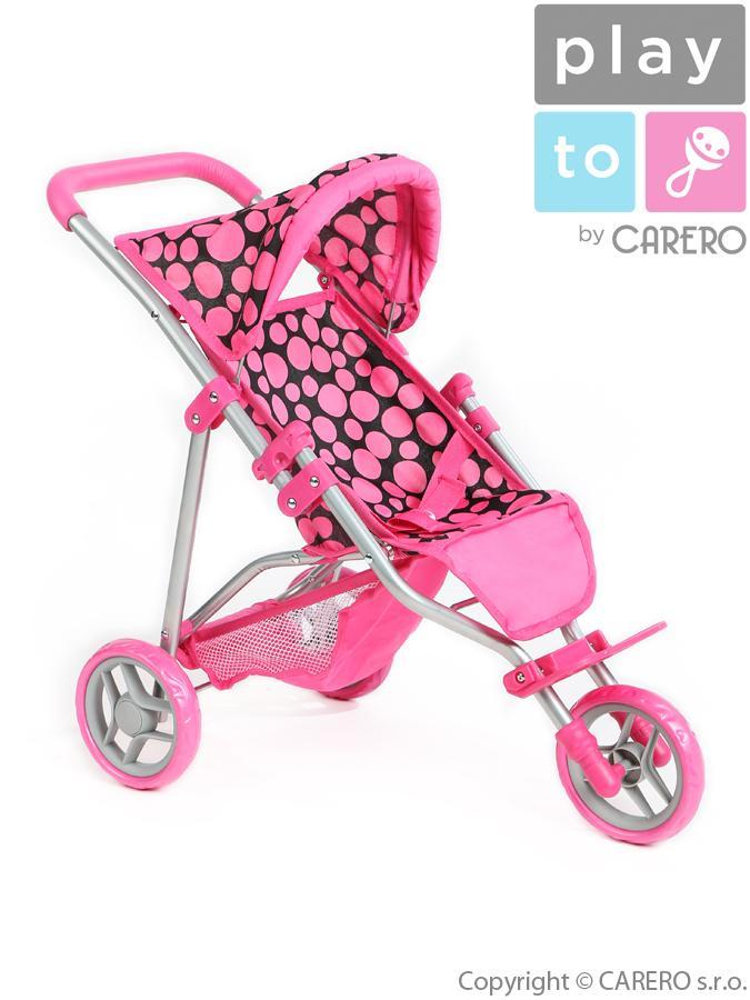 Sportovní kočárek pro panenky PlayTo Olivie růžový