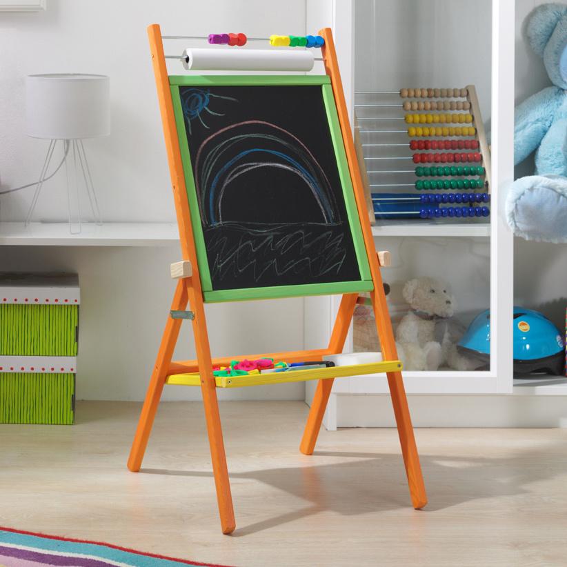3toys Otočná magnetická dětská tabule - barevná